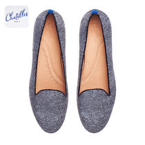 Chatelles Round Toe Rubber Sole Casual Style Other Animal Patterns