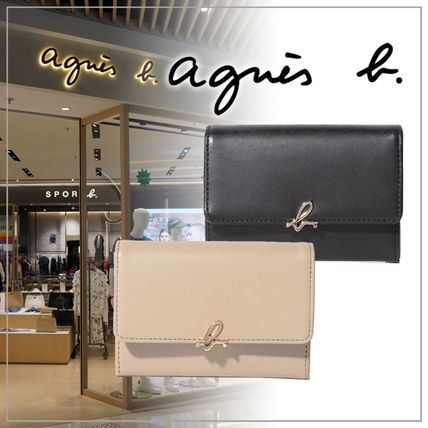 Agnes b Plain Logo Card Holders