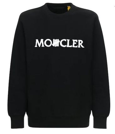 MONCLER Sweatshirts Crew Neck Street Style Collaboration Long Sleeves Cotton