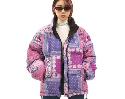 OPEN THE DOOR Paisley Unisex Street Style Python Oversized Jackets