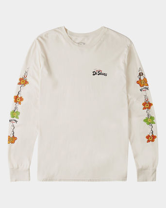 Crew Neck Pullovers Flower Patterns Tropical Patterns