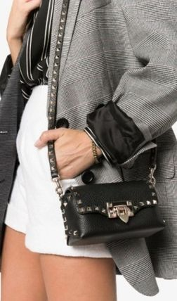 VALENTINO Leather Street Style Party Style Office Style Elegant Style