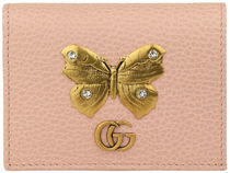 GUCCI Plain Other Animal Patterns Leather Folding Wallet