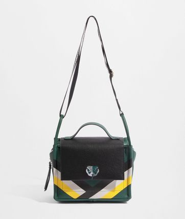Casual Style Collaboration Crossbody Logo Shoulder Bags