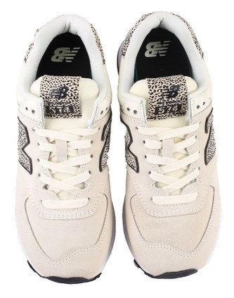 New Balance 574 Leopard Patterns Lace-up Casual Style Suede Leather Logo