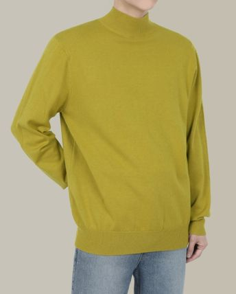 SCENERITY Long Sleeves Plain Sweaters