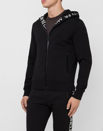 MONCLER Hoodies Long Sleeves Plain Cotton Logo Hoodies 5