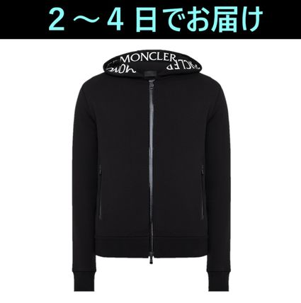 MONCLER Hoodies Long Sleeves Plain Cotton Logo Hoodies