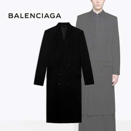 BALENCIAGA Fitted Double Breasted Coat