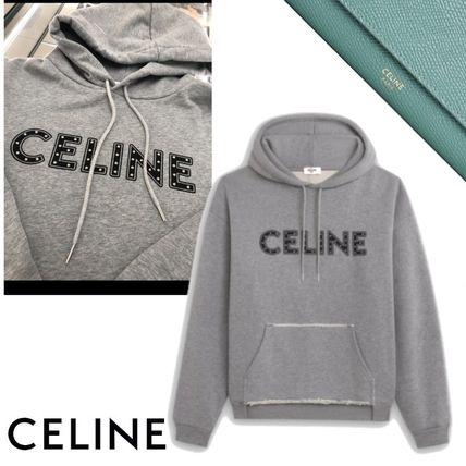 CELINE Celine Loose Cotton Sweatshirt With Studs