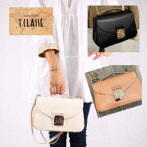 PRIMA CLASSE Casual Style 2WAY Leather Elegant Style Shoulder Bags
