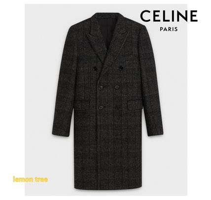 CELINE Classic Coat In Prince Of Wales