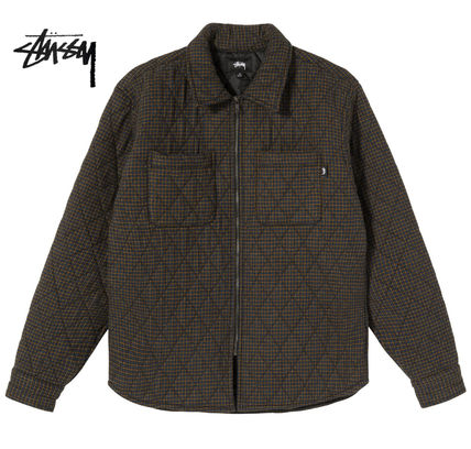 STUSSY Shirts Other Plaid Patterns Long Sleeves Skater Style Shirts