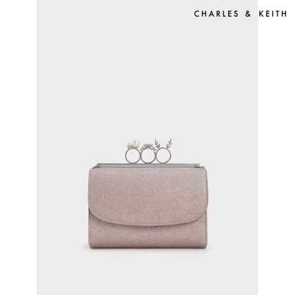 Charles&Keith Crossbody Glitter Casual Style Faux Fur Plain Party Style