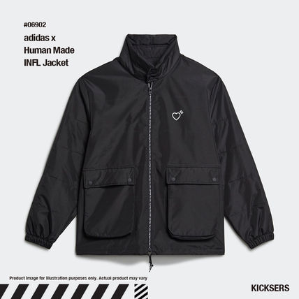 HUMAN MADE Heart Unisex Street Style Collaboration Plain Logo Jackets