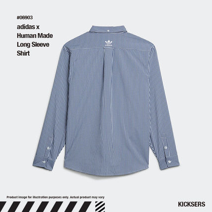 HUMAN MADE Button-down Gingham Unisex Street Style Collaboration