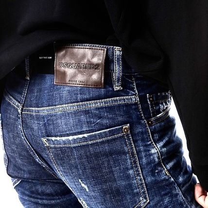 D SQUARED2 Tapered Pants Street Style Cotton Handmade Skinny Jeans