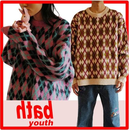 YOUTHBATH Sweaters Unisex Street Style Long Sleeves Sweaters