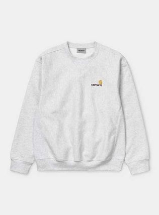 Carhartt Sweatshirts Unisex Sweat Street Style Long Sleeves Plain Cotton Logo 3