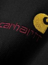 Carhartt Sweatshirts Unisex Sweat Street Style Long Sleeves Plain Cotton Logo 8