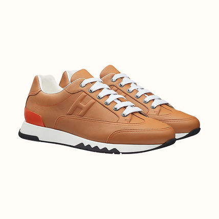 HERMES TRAIL Leather Sneakers