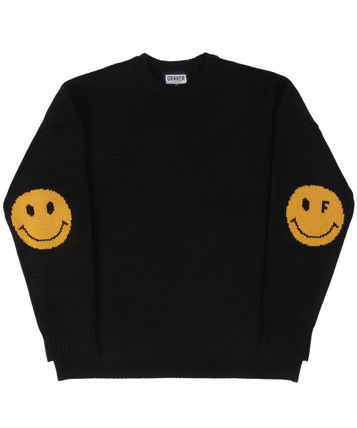 GRAVER Sweaters Unisex Street Style Long Sleeves Oversized Sweaters