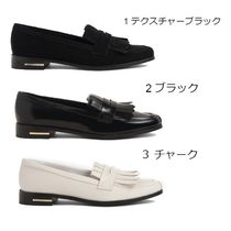 Charles&Keith Casual Style Leather Block Heels Office Style Elegant Style