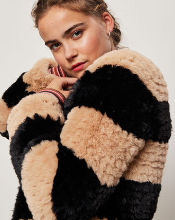 Faux Fur Medium Cashmere & Fur Coats