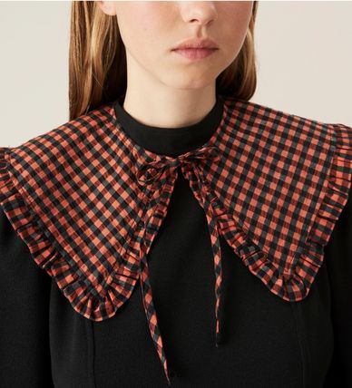 Ganni Other Plaid Patterns Collars