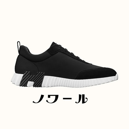 HERMES BOUNCING Street Style Leather Logo Sneakers