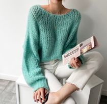 Casual Style Plain Office Style Puff Sleeves
