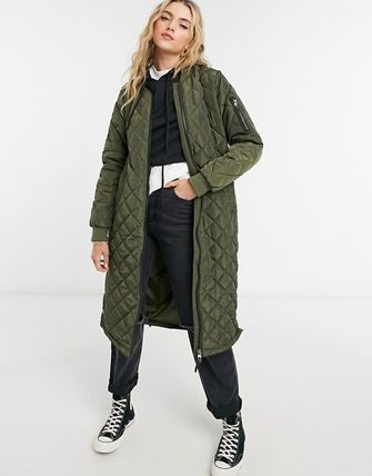 ASOS Casual Style Street Style Plain Long MA-1 Military