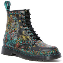 Dr Martens 1460 Skull Plain Toe Lace-up Casual Style Unisex Street Style