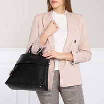 FURLA PIPER Casual Style A4 Plain Leather Party Style Office Style