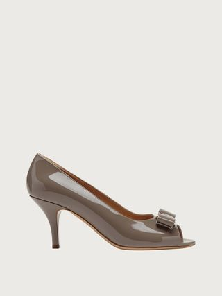 Salvatore Ferragamo Open Toe Casual Style Plain Leather Party Style Office Style