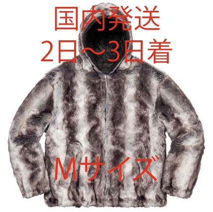 Supreme Leopard Patterns Unisex Wool Faux Fur Fur Street Style