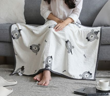 Unisex Art Patterns Black & White Characters Throws