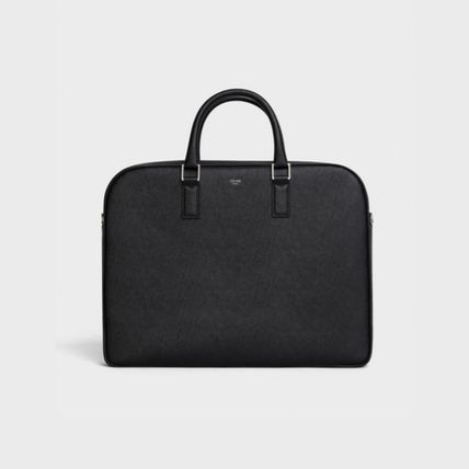 CELINE Medium Briefcase In Grained Calfskin