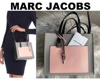 MARC JACOBS 2WAY Plain Leather Party Style Office Style Elegant Style