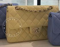 CHANEL Shoulder Bags Casual Style Blended Fabrics Street Style 2WAY Chain Plain 4