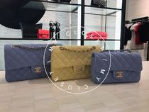 CHANEL Shoulder Bags Casual Style Blended Fabrics Street Style 2WAY Chain Plain 5