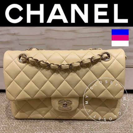 CHANEL Shoulder Bags Casual Style Blended Fabrics Street Style 2WAY Chain Plain 2