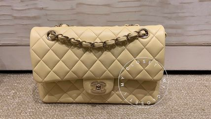 CHANEL Shoulder Bags Casual Style Blended Fabrics Street Style 2WAY Chain Plain 3