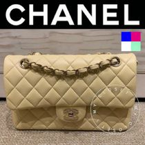 CHANEL MATELASSE Casual Style Blended Fabrics Street Style 2WAY Chain Plain