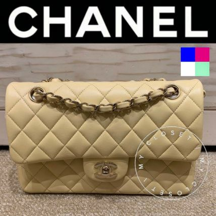 CHANEL MATELASSE Crossbody Formal Style  Logo Casual Style Blended Fabrics