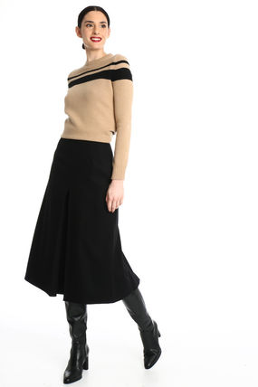 Diffusione Tessile Casual Style Wool Plain Handmade Office Style Elegant Style