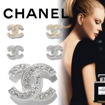 CHANEL Party Style Elegant Style Earrings