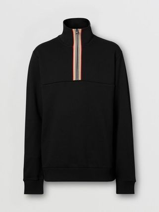 Burberry Pullovers Stripes Street Style Long Sleeves Plain Cotton