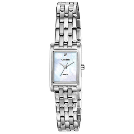 CITIZEN Casual Style Square Party Style Quartz Watches Stainless