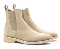 ORO LOS ANGELES Suede Street Style Plain Chelsea Boots Chelsea Boots